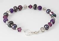 Purple Lampwork Bracelet alternative view 2