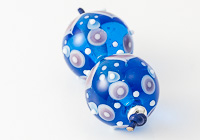 Turquoise Graphics Lampwork Beads alternative view 1
