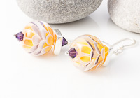 Purple Sunset Dahlia Lampwork Earrings alternative view 1
