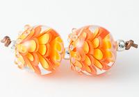 Teal Dahlia Lampwork Beads