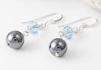 Haematite and Crystal Earrings alternative view 2