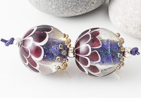 Purple Dichroic Lampwork Beads