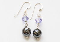 Haematite and Crystal Earrings alternative view 1