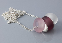 Pink Tumbled Charm Bead Necklace alternative view 2