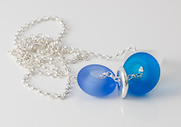 Blue Tumbled Charm Bead Necklace alternative view 1