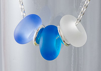 Blue Tumbled Charm Bead Necklace