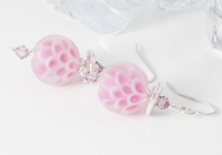 Dahlia Lampwork Earrings alternative view 1