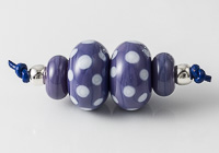 Purple Spotty Lampwork Bead Set