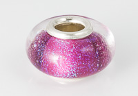 Silver Cored Dichroic Lampwork Bead