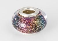 Silver Cored Dichroic Lampwork Bead