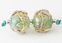 Leafy Lampwork Beads