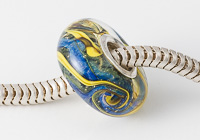 Galaxy Silver Cored Lampwork Bead