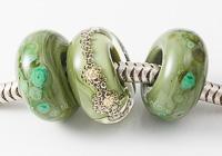 Green Lampwork Charm Beads alternative view 1