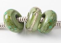 Green Lampwork Charm Beads alternative view 2