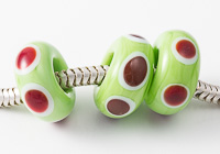 Red Dotty Lampwork Charm Beads alternative view 2