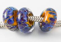 """Carnival"" Lampwork Charm Beads"