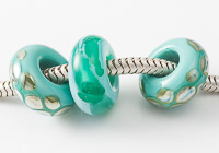 Teal Lampwork Charm Beads alternative view 1