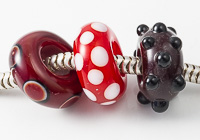 Red Lampwork Charm Beads alternative view 2