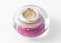 Pink Silver Cored Lampwork Bead alternative view 2