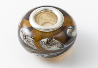 Brown Leaf Silver Cored Lampwork Bead alternative view 1
