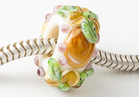 Flowery Lampwork Charm Bead alternative view 2