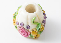 Flowery Lampwork Charm Bead alternative view 1