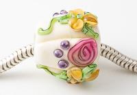 Flowery Lampwork Charm Bead