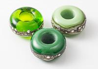 Green Lampwork Charm Beads alternative view 1