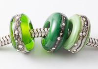 Green Lampwork Charm Beads alternative view 2