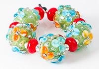 Bright Flowery Lampwork Beads