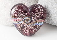 Amethyst Heart Lampwork Bead