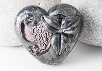 Gothic Heart Lampwork Bead