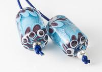 Dichroic Dahlia Lampwork Beads