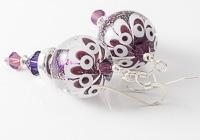 Purple Lampwork Earrings alternative view 2