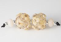 Glittery Flower Lampwork Beads