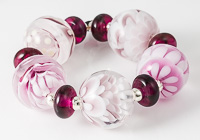 Pink Lampwork Bead Collection