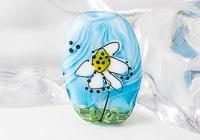 Daisy Flower Lampwork Bead