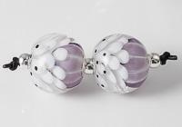 Lilac Dahlia Lampwork Beads