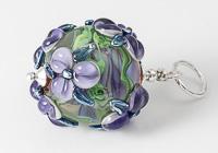 Flower Lampwork Bead Pendant