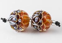 Rusty Dahlia Lampwork Beads