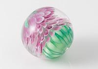 Pink Lampwork Dalhia Bead