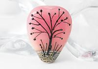 Pink Sunset Lampwork Tree Bead