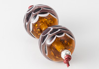 Golden Dahlia Lampwork Beads alternative view 1