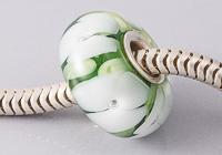 Flowery Cored Lampwork Bead