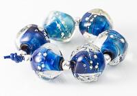 Blue Lampwork Nugget Beads alternative view 1