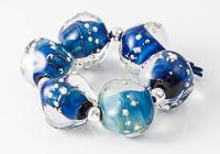 Blue Lampwork Nugget Beads alternative view 2