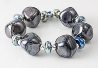 Shiny Black Lampwork Beads