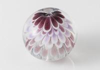 Purple Dahlia Lampwork Bead alternative view 1
