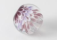 Purple Dahlia Lampwork Bead