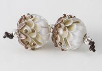 Brown Dahlia Lampwork Beads